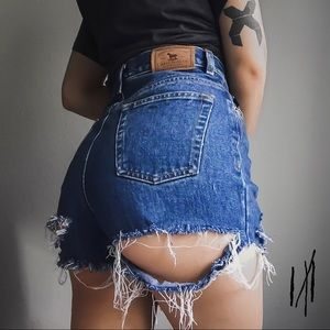 Custom Destroyed Grunge Ralph Lauren Shorts 1/1
